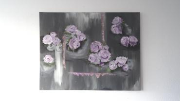 """Lilac world"" ( 90x70 cm )"