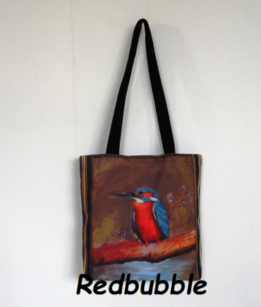 Redbubble bags from my own designs.
