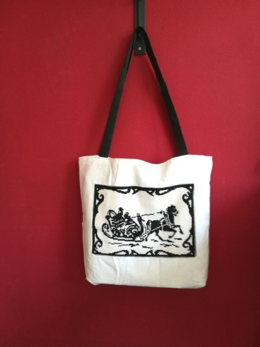 All bags with vintage embroidery.